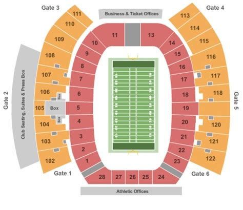 texas tech stadium map jones at t stadium tickets in lubbock texas jones at t stadium seating charts events and schedule