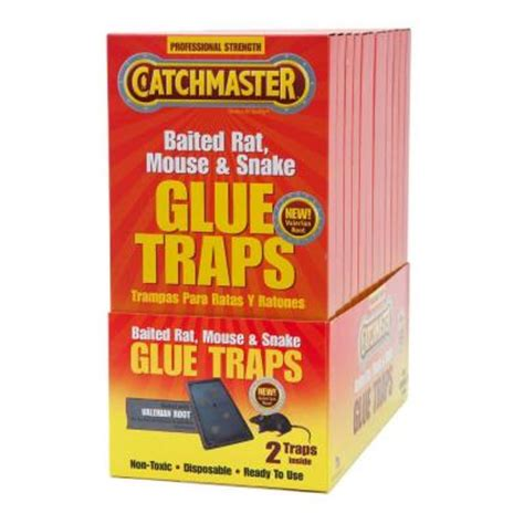 catchmaster 2 pack baited rat size glue traps with