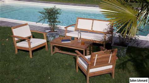 salon bas de jardin en bois fauteuil bois salon de jardin