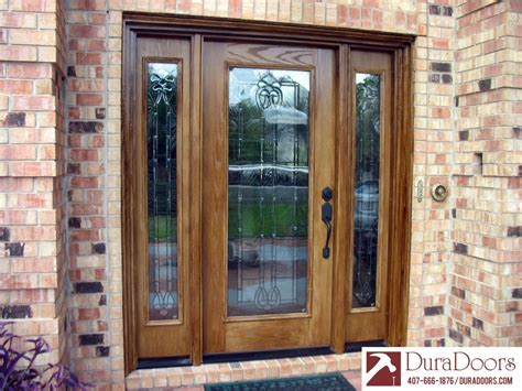 Colored Glass Doors Woodgrain Plastpro Door With Odl Classic Style Legacy Master Decorative Glass Duradoors