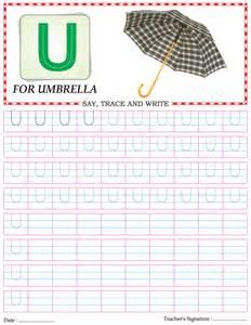 capital letter writing practice worksheet alphabet u