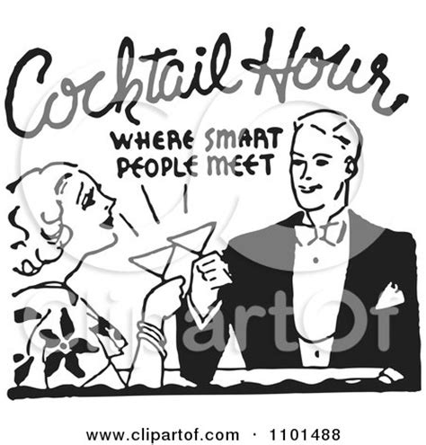 vintage cocktail party clipart royalty free heres to illustrations by bestvector page 1