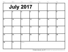 Printable July 2017 Calendar 2017 Calendar Free Print Xmas