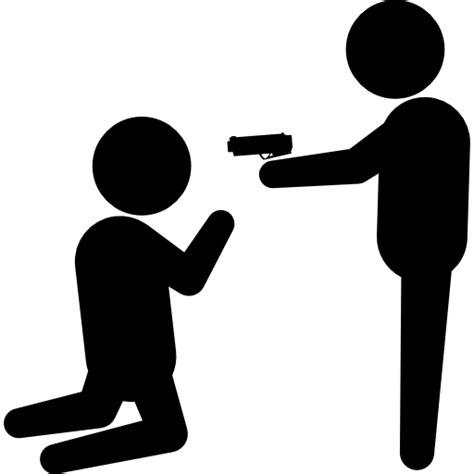 Como Ver El Record Criminal De Una Persona Gratis Criminal Se 241 Alando Con Un Arma De Fuego A Una Persona De Rodillas Iconos Gratis De