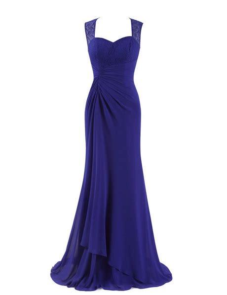 blauwe jurk maat 46 kobalt blauwe avondjurk