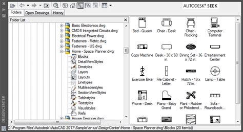 design center window autocad autocad designcenter mining drawing data tuesday tips