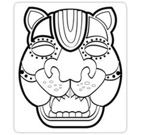 aztec mask template 1000 images about mayan on masks jaguar and