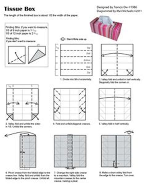Origami Tissue Box - paper things on easy origami origami and