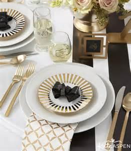 Classic wedding inspiration black and white striped wedding decor