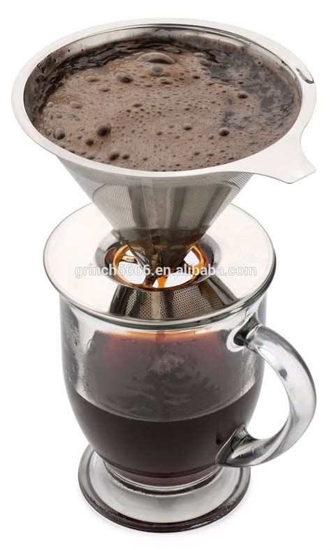 Coffee Drip Dripper Kopi Coffee Drip Cook Master 2 Cup paperless pour coffee dripper stainless steel reusable coffee filter and single cup