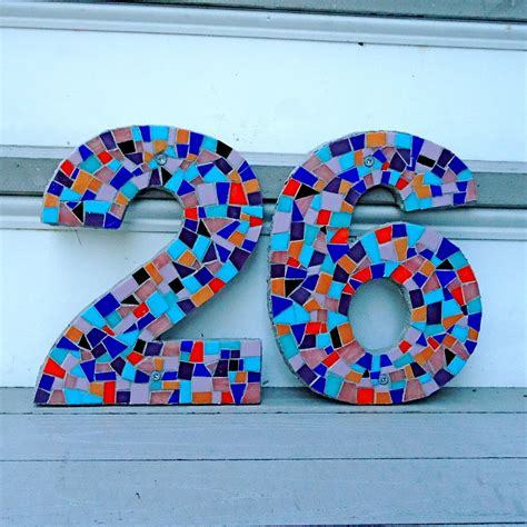 house number design ideas mesmerizing unique house numbers enhanced with colorful mosaic ideas creating two and