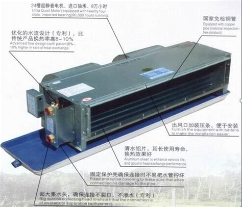 Ac Fcu concealed horizontal fan coil with box china mainland air conditioner parts