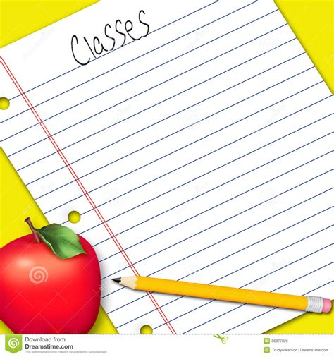 Calendars That Work With Apple Pencil Illustration Note Paper School Work Royalty Free Stock