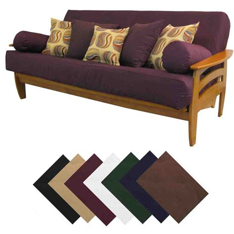 Futon Covers by Suede Futon Cover Home Furniture Design
