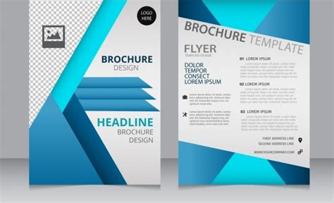 corporate brochure design templates corporate brochure template modern checkered blue