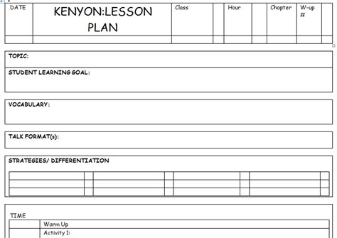 daily lesson plan template doc lesson plan template doc tryprodermagenix org