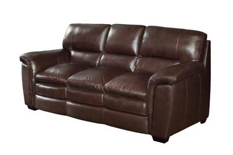 Burton Brown Leather Sofa   Steal A Sofa Furniture Outlet