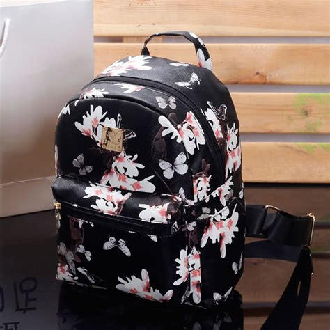 Tas Ransel Fashion Backpack Mini 4 In 1 3921 13 floral ransel hitam beli murah floral ransel hitam lots