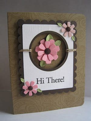 best flower style handmade card with simple message