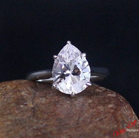 Black Sapphire 12 5ct light pink sapphire solitaire pear engagement ring 4 5ct