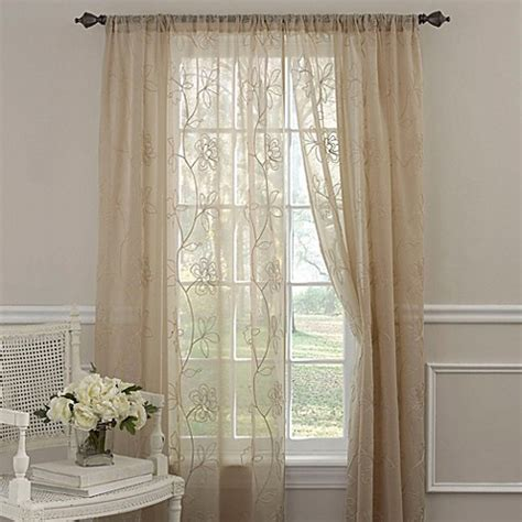 laura ashley sheer curtains buy embroidered curtain sheers from bed bath beyond