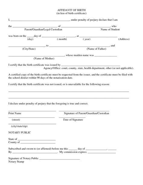 birth certificate affidavit format cic oopnp com birth certificate affidavit format legal news law news