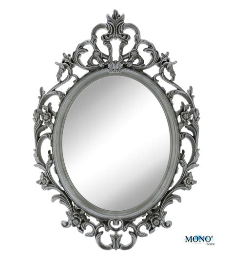 monoinside 15 quot framed oval wall mount mirror antique