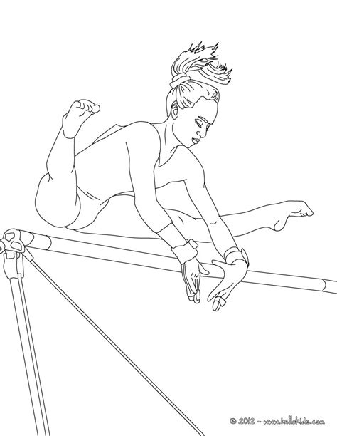Uneven Horse Artistic Gymnastics Coloring Pages Gymnastics Colouring Pages