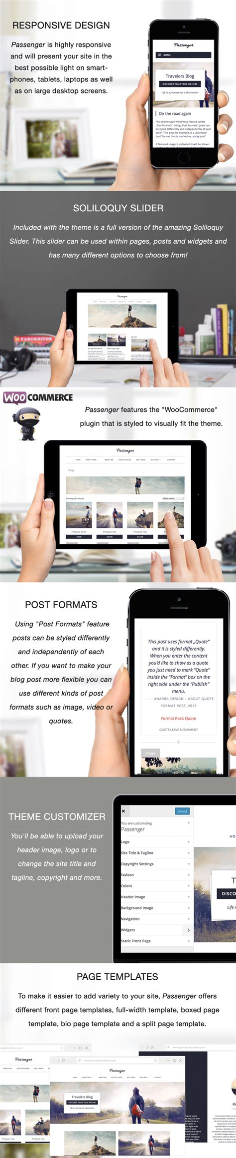 design themes core features plugin wordpress passenger travelers wordpress theme wordpress