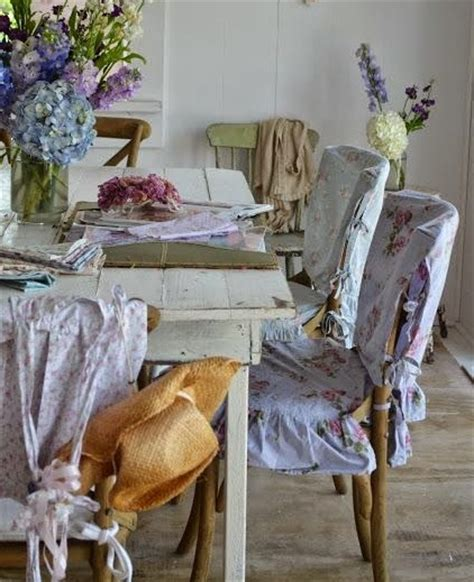 slipcovered chairs shabby chic white pink dining room chair slipcovers shabby chic