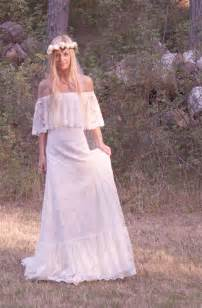 bohemian wedding dress bohemian wedding dress the shoulder lace by daughtersofsimone wedding dresses bridal
