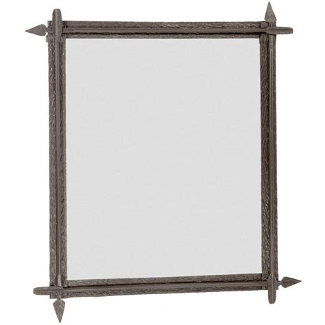 wrought iron bathroom mirrors wrought iron quapaw wall mirror by county ironworks
