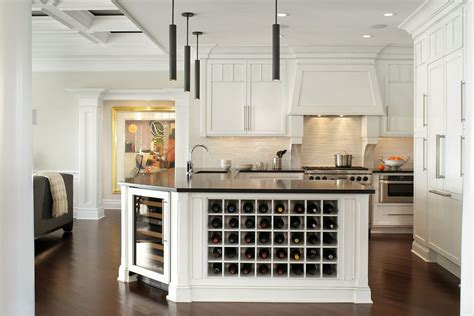 Bar Chairs For Kitchen Island built in wine rack kitchen traditional with wine fridge
