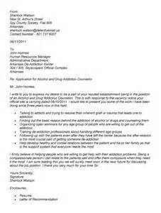 Sle Cover Letter For Counselor by Addictions Counselor Resume Sales Counselor Lewesmr