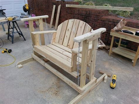 build  porch swing glider youtube
