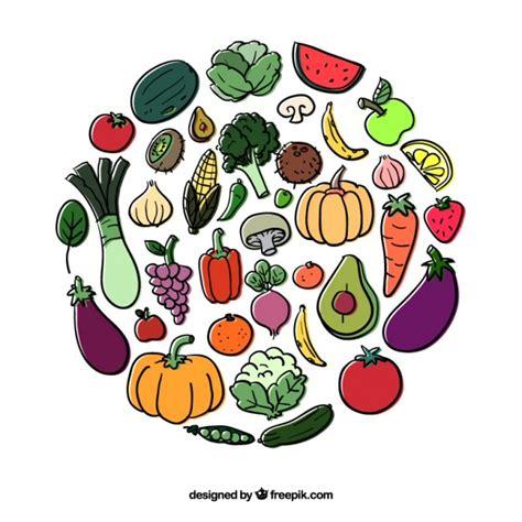 imagenes gratis de frutas y verduras c 237 rculo de frutas y verduras descargar vectores gratis