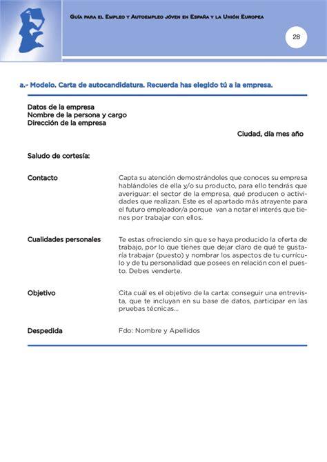 Modelocurriculum Net Modelos Carta Presentacion Gu 237 A De Empleo