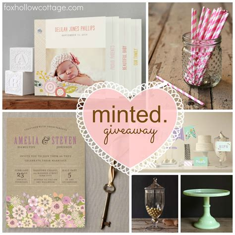 Minted Giveaway - a minted giveaway pretty perfect paper fox hollow cottage