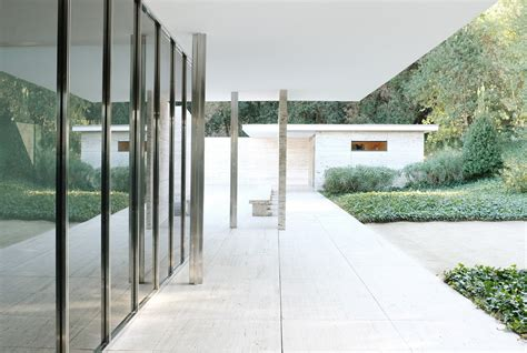 Farnsworth House by Barcelona Pavilion Mies Van Der Rohe Aria Ben