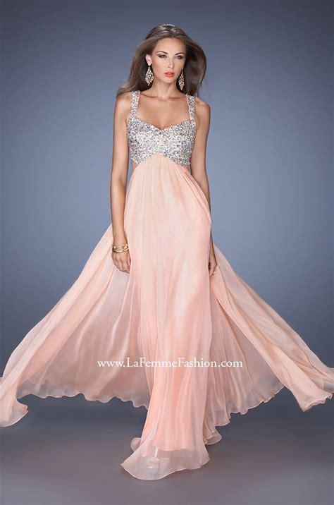 pastel colored dresses la femme 18989 chiffon prom dress pin prom dress