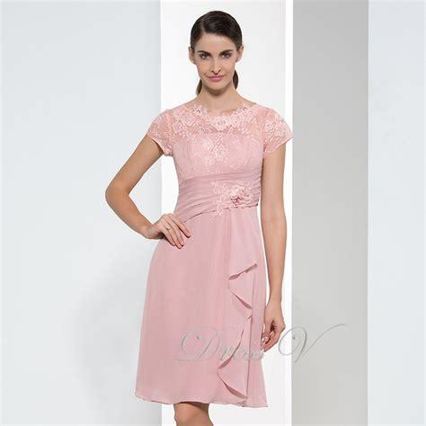 buy simple pearl pink chiffon bridesmaid
