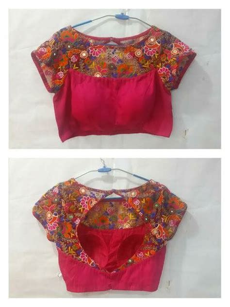 boat neck front designs net blouse front and back neck designs blouses galleries