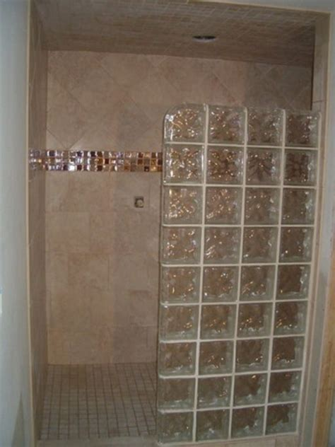 Glass Block Showers Small Bathrooms 1000 Images About Bathroom Ideas On Pinterest Traditional Bathroom Glass Block Shower And