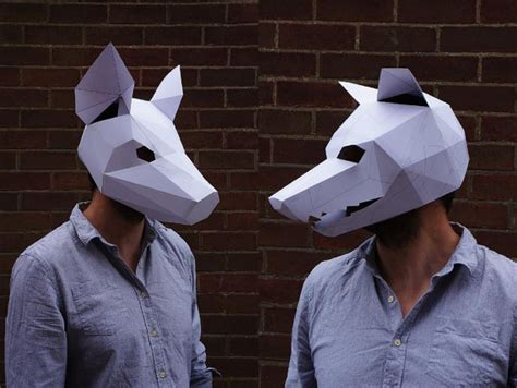 How To Make Scary Masks Out Of Paper - these paper polygon masks are creepy cool amazing