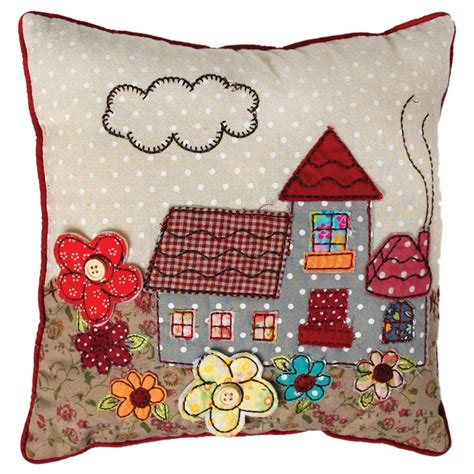 Patchwork Picture - patchwork cottage cushion