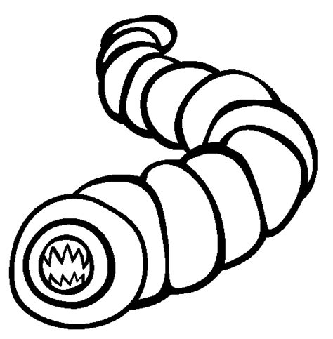 color worm earthworm coloring page coloring pages