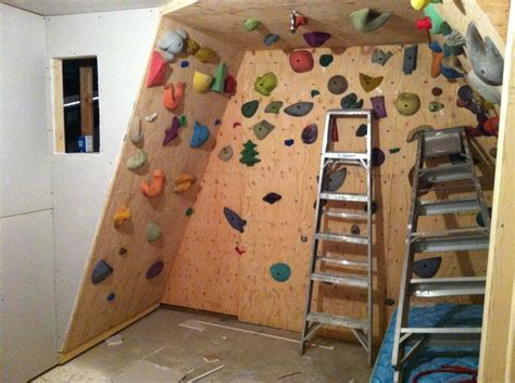 keep your active all year with a home rock climbing
