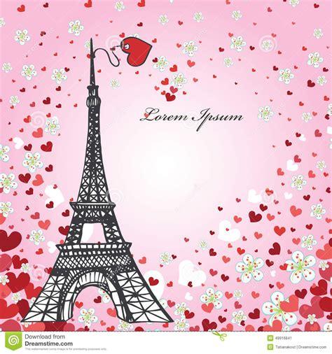 pronto si tu testo modello di disegno cuori fiori torre eiffel