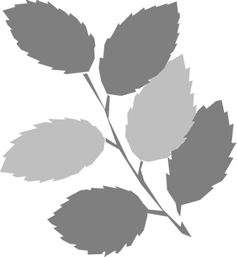 Leaf Grey by Grey Leaves Clip At Clker Vector Clip