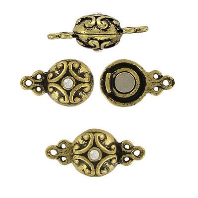 brass and crystal ls magnetic clasp antique brass crystal frabels inc